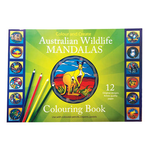Australian wildlife mandala colouring book No 2