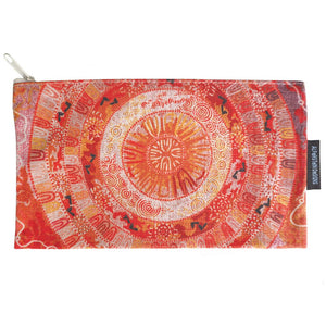 Cotton Zip Bag - Coral Pananka Hayes.