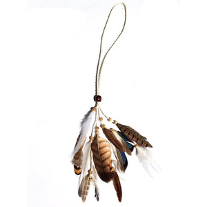 Feather Headband/Necklace White cord