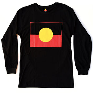 Aboriginal Flag Long Sleeve T-shirt