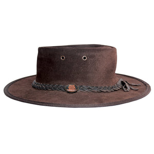 Suede Leather Foldaway Hat