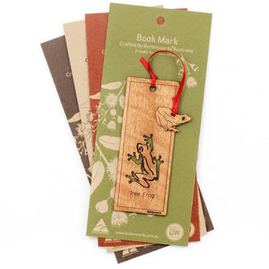 Wooden Bookmark - Frog