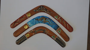 "100% Aboriginal made by Murra Wolka - 18"" Returning Boomerang -"