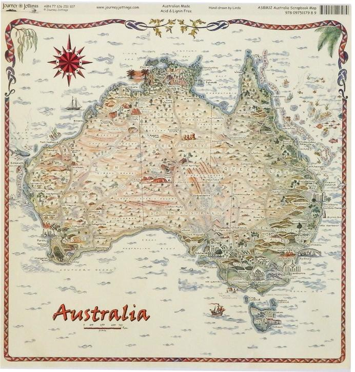 Australian Map - Square - Planet Corroboree