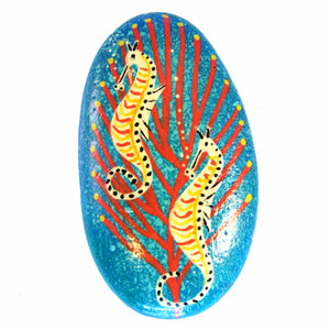Painted Stone By Magpie - Seahorse