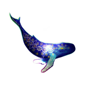 Metallic Whale Sticker