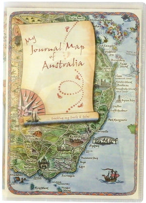 My Journal Map of Australia with Plastic cover