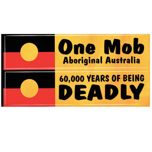 One Mob/Deadly Aboriginal flag Sticker