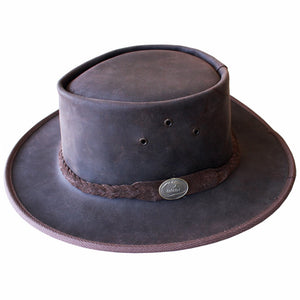 Leather Hat - Rainrider