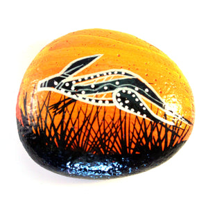 Painted Stone By John Rotumah