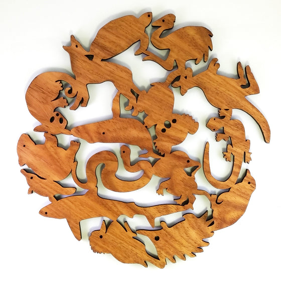 Buttonworks Australian native wood trivet - Large
