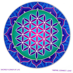 Sacred Flower of Life - Sunseal Sticker