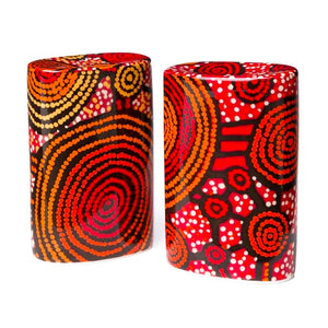 Emu Dreaming (Yankirri Jukurrpa) Salt & Pepper Shakers by Teddy Gibson