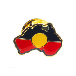 Aboriginal Flag badge map shape  - small