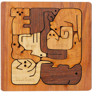 Square Animal Puzzle - Buttonworks