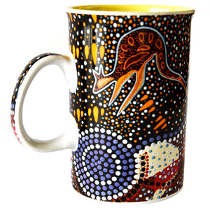 Journey of the Coastal Kooris mug by Ron Potter