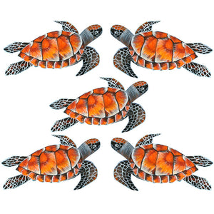 Turtle, Green Sea Sticker x 5