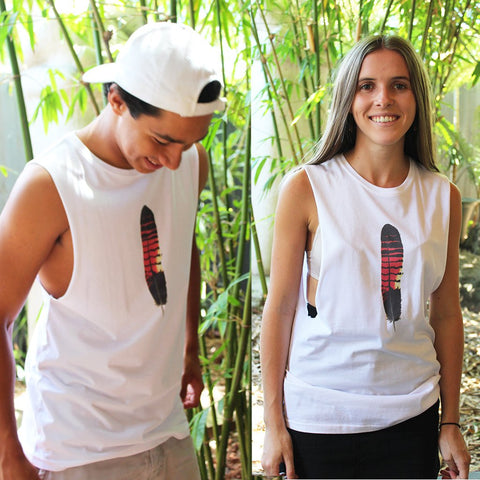 Red Tailed Black Cockatoo Singlet - Unisex