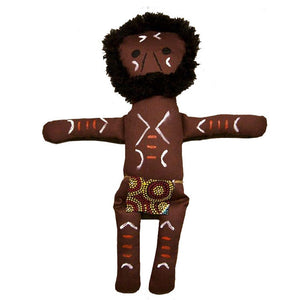 Aboriginal Warrior Man Doll