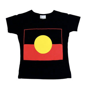 Aboriginal Flag Women's fitted T-Shirt