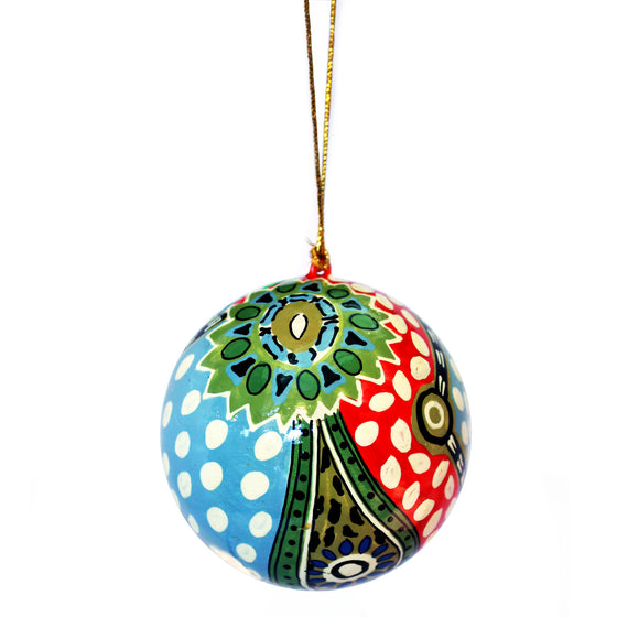 Paper Mache Christmas Ball - Marie Oliver