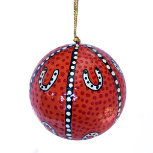 Paper Mache Christmas Ball - Pam Brandy Hall
