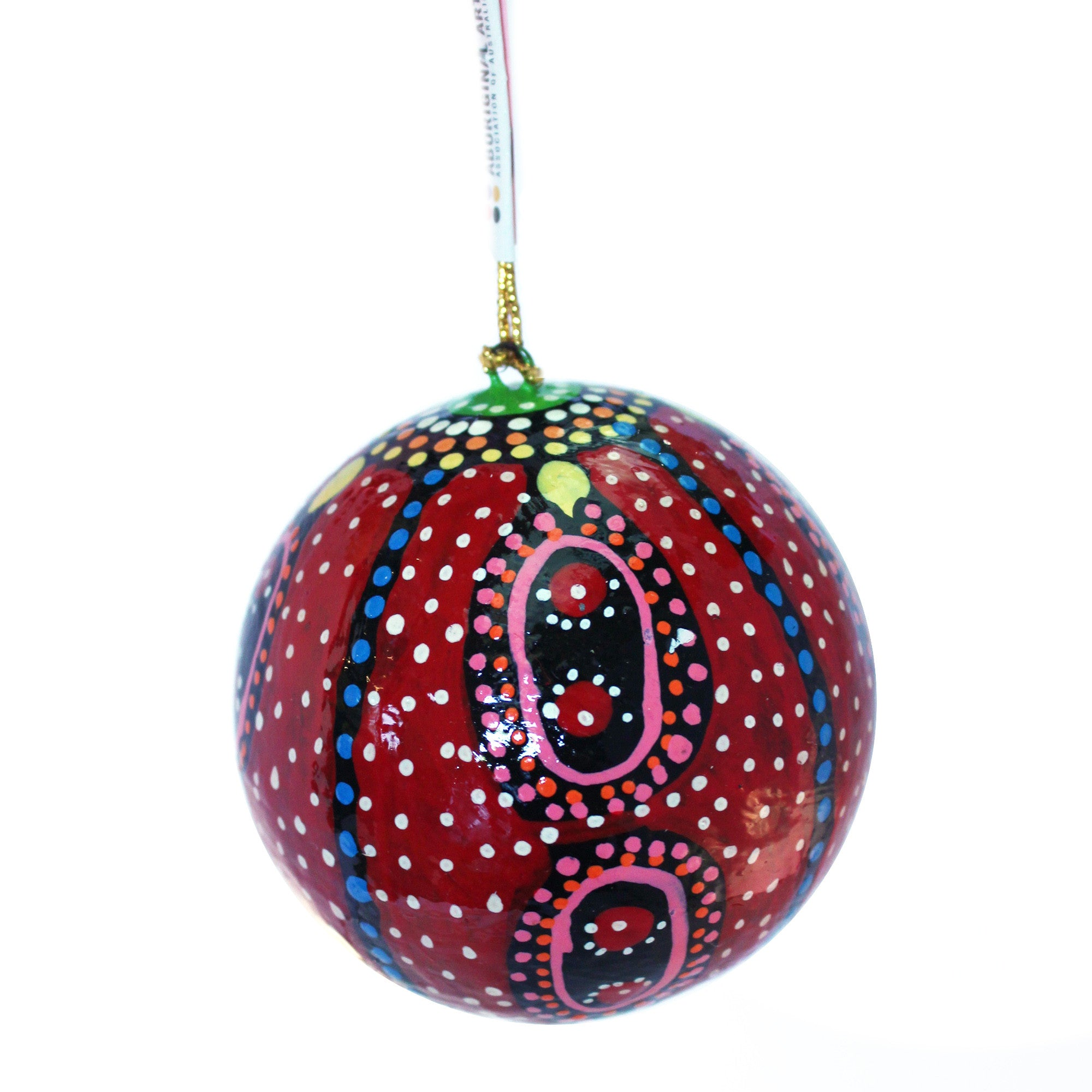 Paper Mache Christmas Ornament.Paper Mache Christmas Ball Marie Young