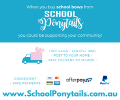 Back to school term 1 2020 - Australia - AfterPay - School Ponytails - Hair bows for school