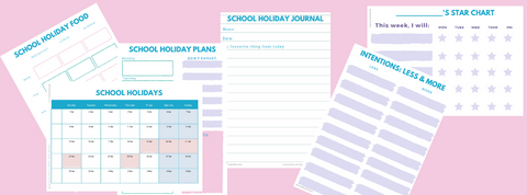 Easter holiday planner - free download