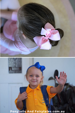 Big Bows like JoJo Bows for school | School Ponytails