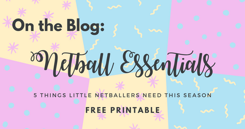 My Netball Season Free Printable - School Ponytails