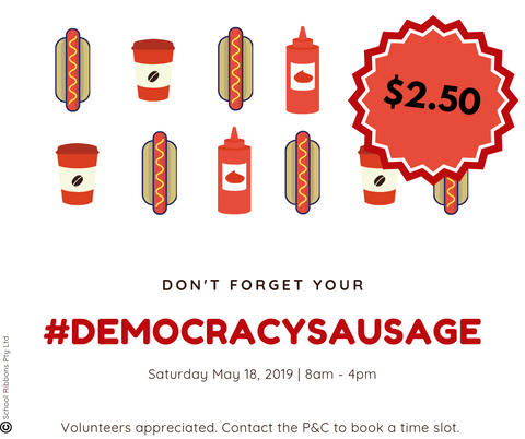 Democracy Sausage poster for election day sausage sizzles