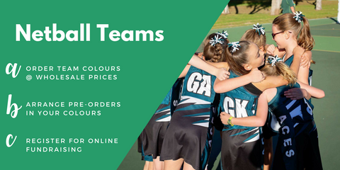 Netball Teams: Wholesale Pricing, Fundraising Ideas