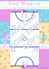 Free Printable: Court Positions Map | School Ponytails