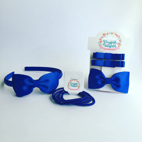 School Ponytails' School Kits include all the basics, in plain or combo colours