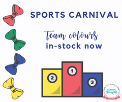 Sports podium for sports day at school - bows on sale