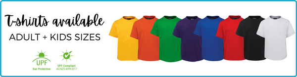 Red Blue Green Yellow Gold Green Purple Orange T-shirts available to pre order - AfterPay