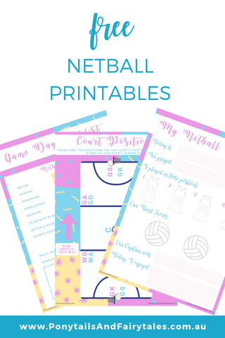 Free netball printables for junior netballers and team managers