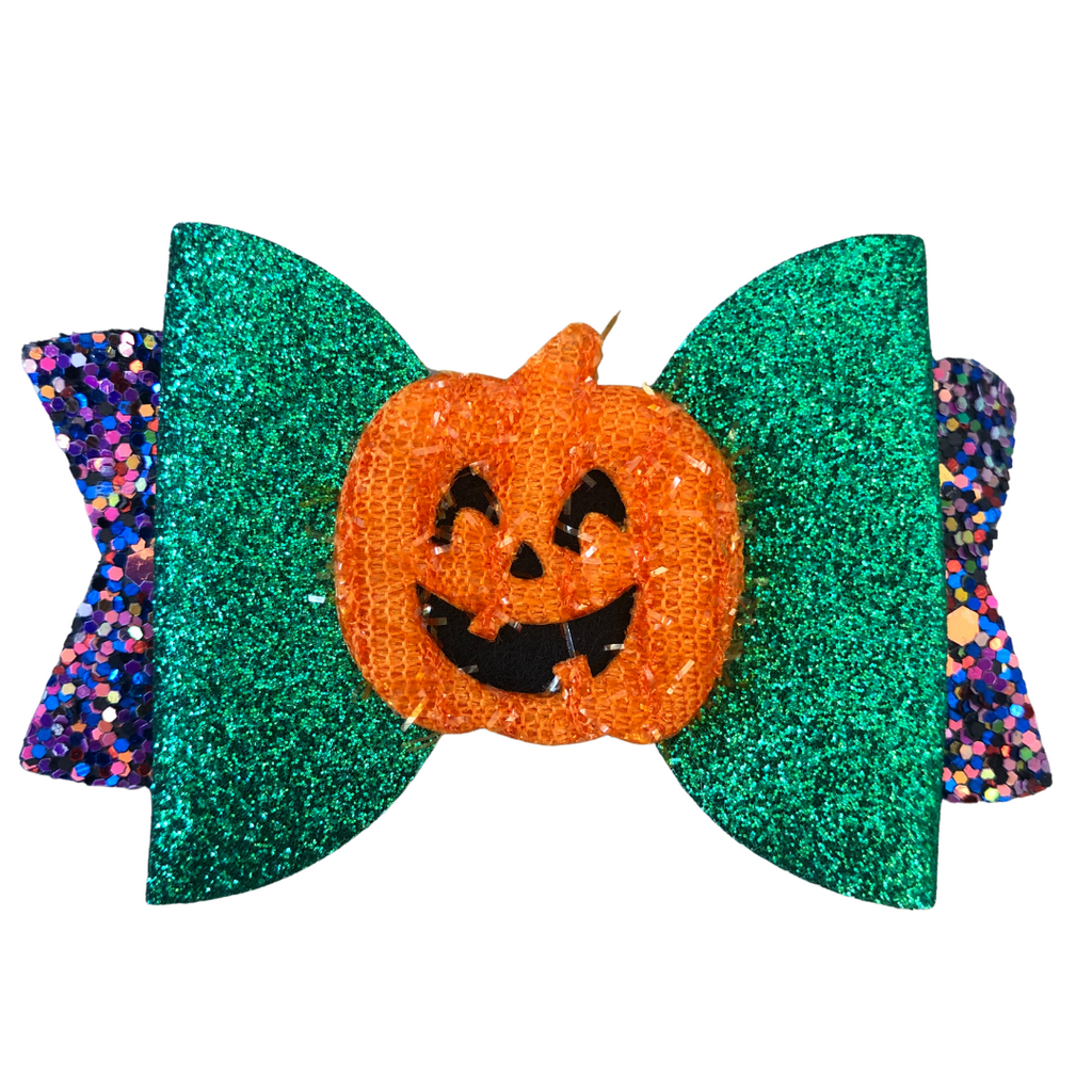 Petrified Pumpkin Halloween Hair Clip