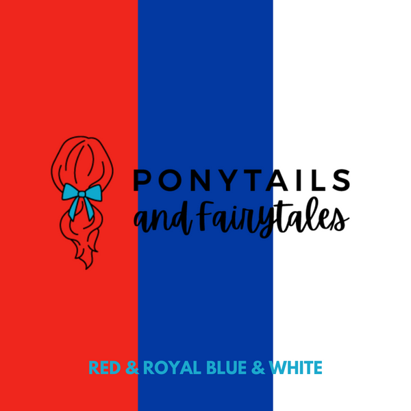 Royal Blue & Red & White Hair Accessories