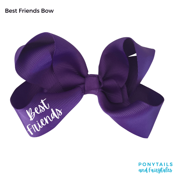 Best Friends / BFF Bow - Hair clips - School Uniform Hair Accessories - Ponytails and Fairytales