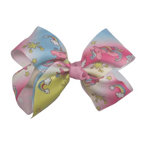 Big Bow - Unicorn - Ponytails and Fairytales