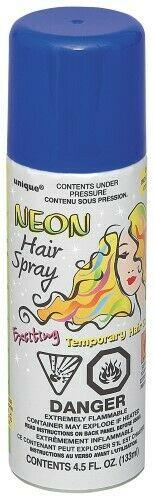 Blue Coloured Hair Spray 85-100g - Coloured hair spray - School Uniform Hair Accessories - Ponytails and Fairytales
