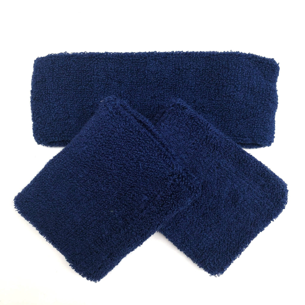 Blue Sweat Band Set (3pc) - Ponytails and Fairytales