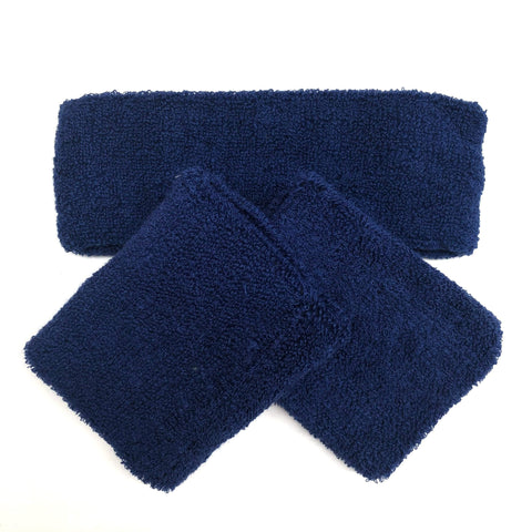Blue Sweat Band Set (3pc) - Carnival and event - School Uniform Hair Accessories - Ponytails and Fairytales
