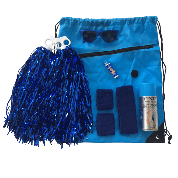 Blue Team Sports Day Range - Carnival and event - School Uniform Hair Accessories - Ponytails and Fairytales