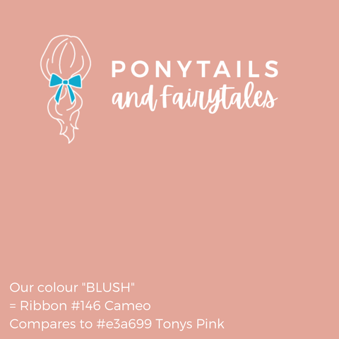 Blush Pink Hair Accessories Assorted Hair Accessories School Ponytails - Colours