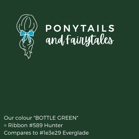 Bottle Green Hair Accessories - Ponytails and Fairytales