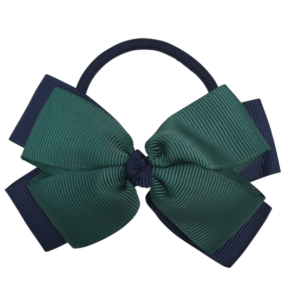 Bottle Green & Navy Hair Accessories - Ponytails and Fairytales