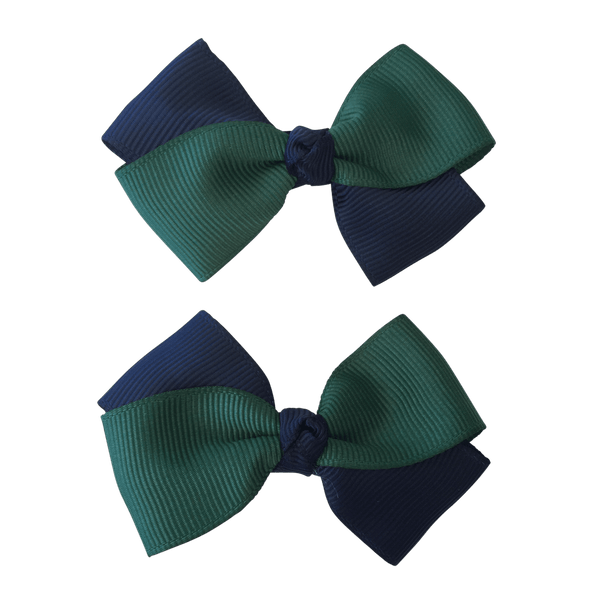 Bottle Green & Navy Hair Accessories - Assorted Hair Accessories - School Uniform Hair Accessories - Ponytails and Fairytales